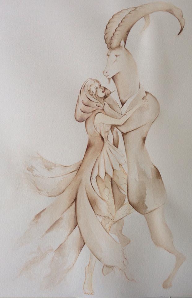 Camilla Kydland   Sleeping Beauty Maleficent Fashion Illustration
