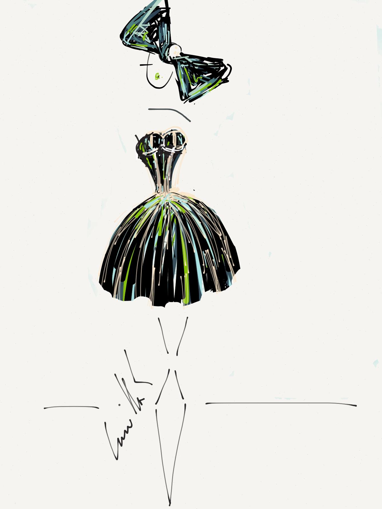 Camilla Kydland | Audrey Hepburn Splatterpaint Fashion Illustration
